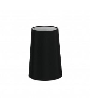 Pantalla textil negra ø165×240