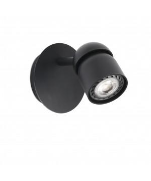 COCO Lámpara aplique negra 1L